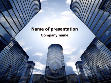 Business Center In Downtown PowerPoint Template