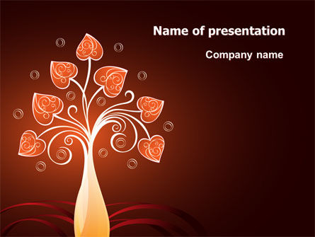 Holiday/Special Occasion: Ontwerp Boom PowerPoint Template #07209