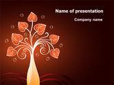 Holiday/Special Occasion: Design baum PowerPoint Vorlage #07209