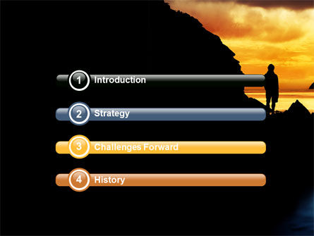 Sunset Beach PowerPoint Template, Slide 3, 07211, Nature & Environment — PoweredTemplate.com
