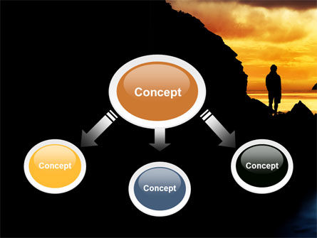 Sunset Beach PowerPoint Template, Slide 4, 07211, Nature & Environment — PoweredTemplate.com