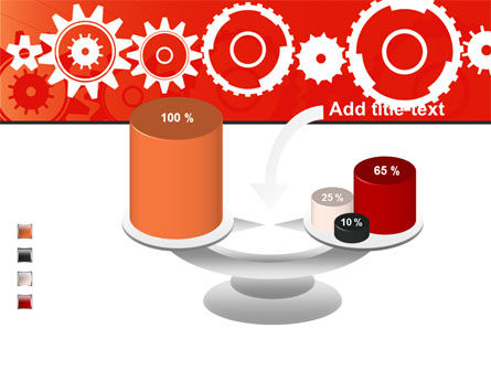 Geared Red PowerPoint Template Slide 10