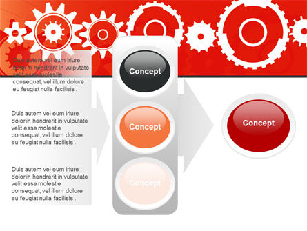 Geared Red PowerPoint Template Slide 11