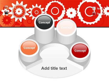 Geared Red PowerPoint Template Slide 12