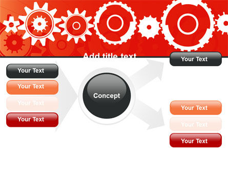 Geared Red PowerPoint Template Slide 14