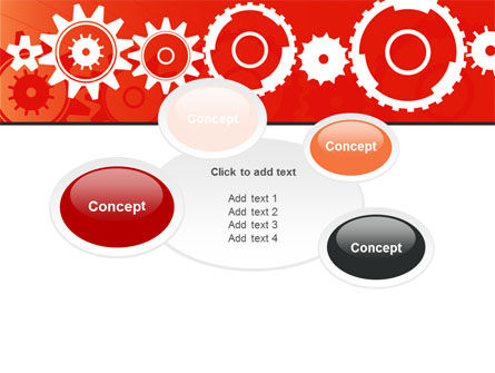 Geared Red PowerPoint Template Slide 16