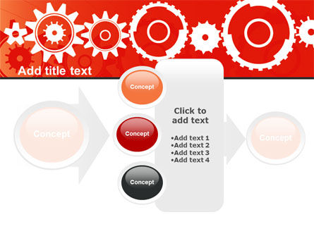 Geared Red PowerPoint Template Slide 17