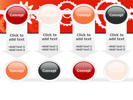 Geared Red PowerPoint Template Slide 18