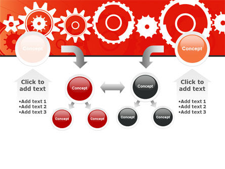 Geared Red PowerPoint Template Slide 19