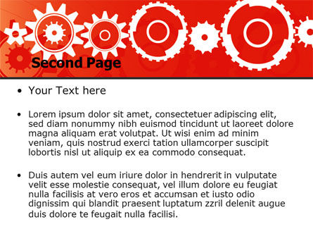 Geared Red PowerPoint Template, Slide 2, 07212, Consulting — PoweredTemplate.com