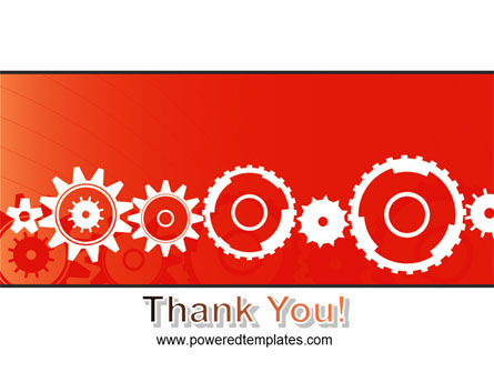 Geared Red PowerPoint Template Slide 20