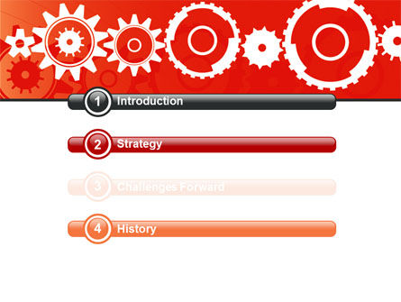 Geared Red PowerPoint Template Slide 3