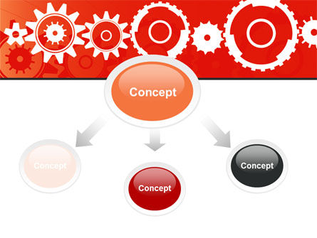 Geared Red PowerPoint Template Slide 4