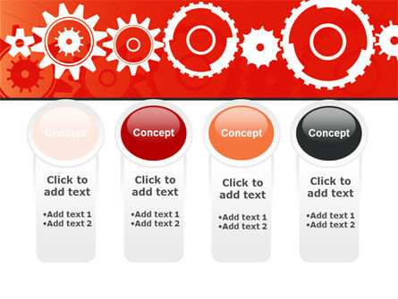 Geared Red PowerPoint Template Slide 5