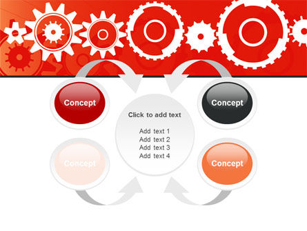Geared Red PowerPoint Template Slide 6