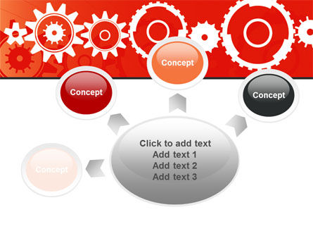 Geared Red PowerPoint Template Slide 7