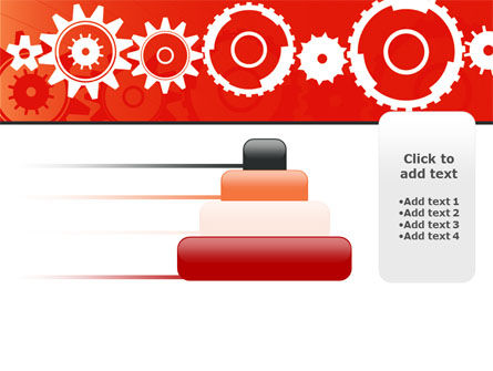 Geared Red PowerPoint Template Slide 8