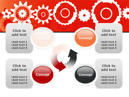 Geared Red PowerPoint Template Slide 9