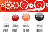Geared Red PowerPoint Template#13