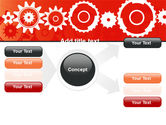 Geared Red PowerPoint Template#14
