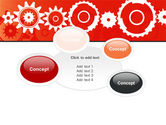 Geared Red PowerPoint Template#16