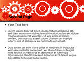 Geared Red PowerPoint Template#2