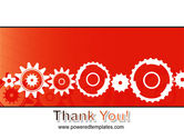 Geared Red PowerPoint Template#20