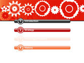 Geared Red PowerPoint Template#3
