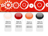 Geared Red PowerPoint Template#5