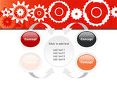 Geared Red PowerPoint Template#6