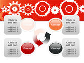 Geared Red PowerPoint Template#9