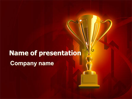 Business Concepts: Gold Cup PowerPoint Template #07215