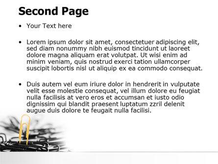 Paper Clip PowerPoint Template, Slide 2, 07216, Business Concepts — PoweredTemplate.com
