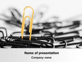 Business Concepts: Paper Clip PowerPoint Template #07216
