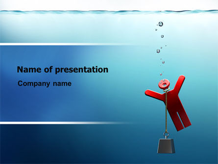Drowner Man PowerPoint Template