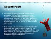 Drowner Man PowerPoint Template#2