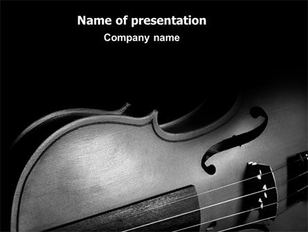 Art & Entertainment: Dark Violin PowerPoint Template #07219