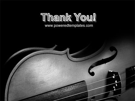 Dark Violin PowerPoint Template Slide 20
