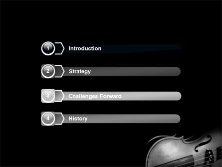 Dark Violin PowerPoint Template, Slide 3, 07219, Art & Entertainment — PoweredTemplate.com