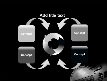Dark Violin PowerPoint Template Slide 6