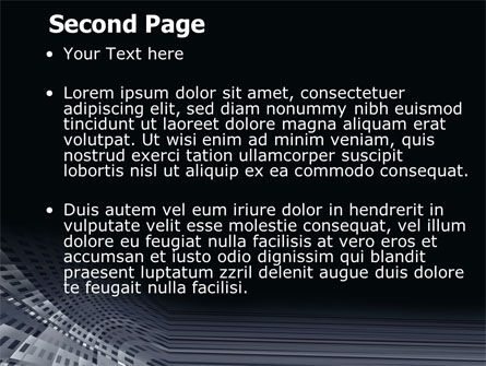 Perforated Theme PowerPoint Template, Slide 2, 07223, Abstract/Textures — PoweredTemplate.com