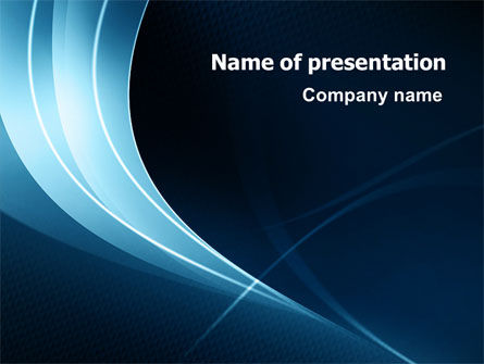Abstract/Textures: Midnight Blue Theme PowerPoint Template #07224
