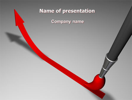 Business: Upwards Arrow PowerPoint Template #07225