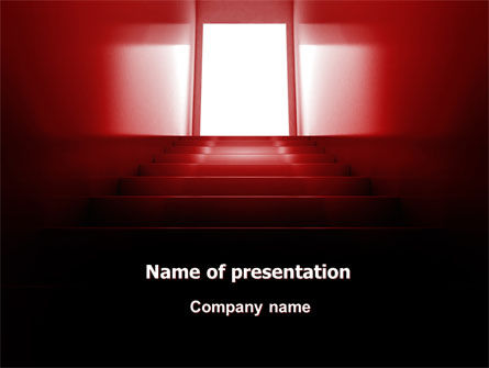 Stairway Of Fame PowerPoint Template, 07226, Business Concepts — PoweredTemplate.com