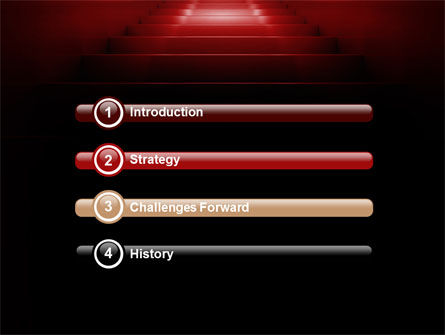 Stairway Of Fame PowerPoint Template, Slide 3, 07226, Business Concepts — PoweredTemplate.com
