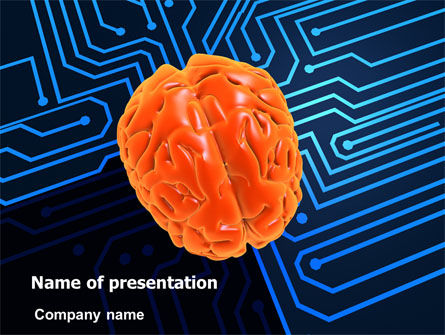 Technology and Science: Brain Work PowerPoint Template #07229