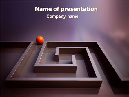 Business: Labyrinth PowerPoint Template #07230