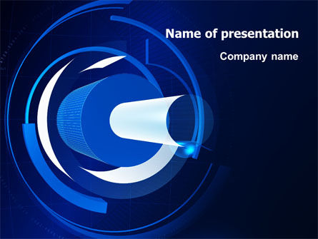 Technology and Science: Technology Abstract PowerPoint Template #07235