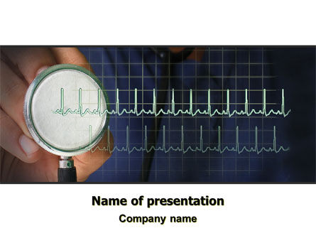 Heart Rate PowerPoint Template, 07237, Medical — PoweredTemplate.com