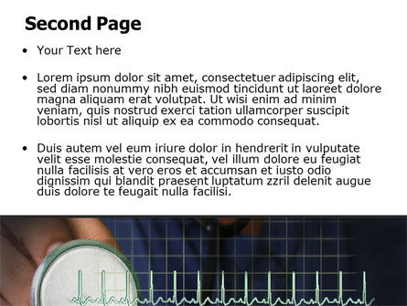 Heart Rate PowerPoint Template, Slide 2, 07237, Medical — PoweredTemplate.com